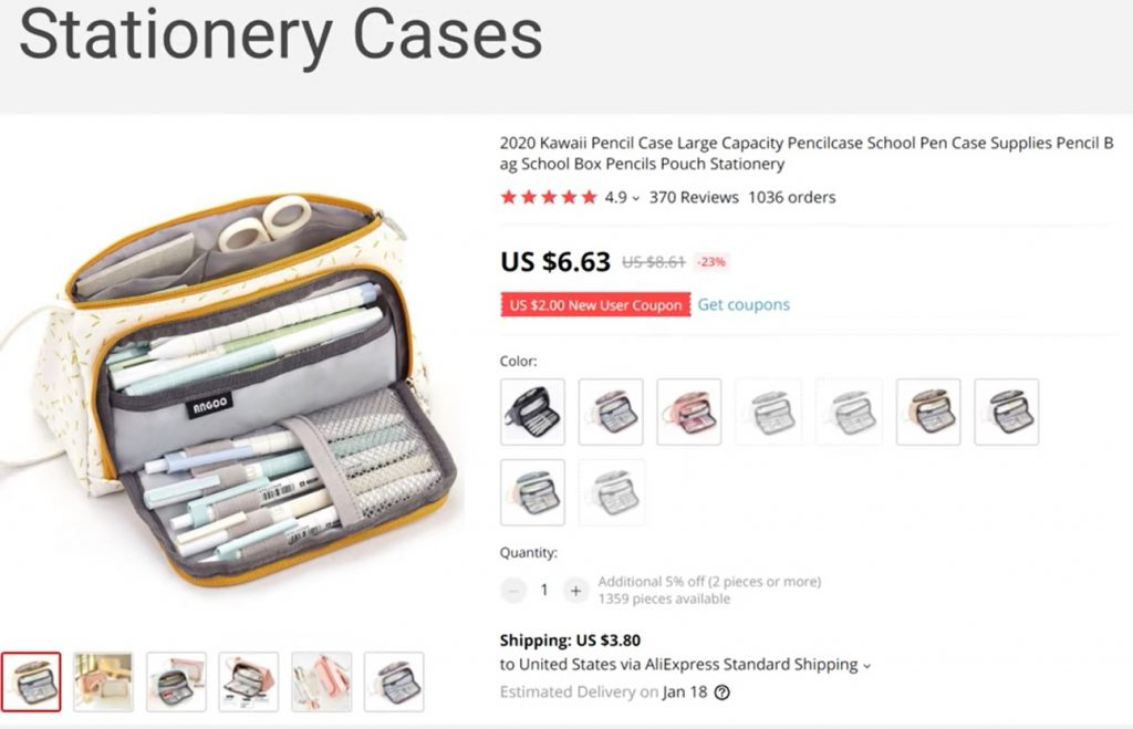 Stationery Cases - Dropshipping ideas 2021