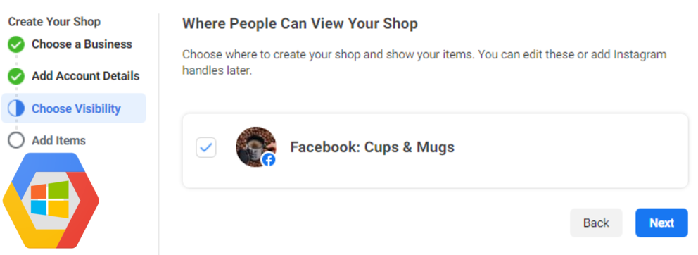 Where people can view your shop
