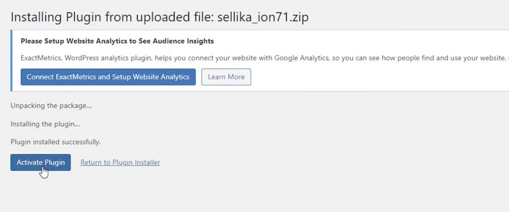 install and activate Sellika