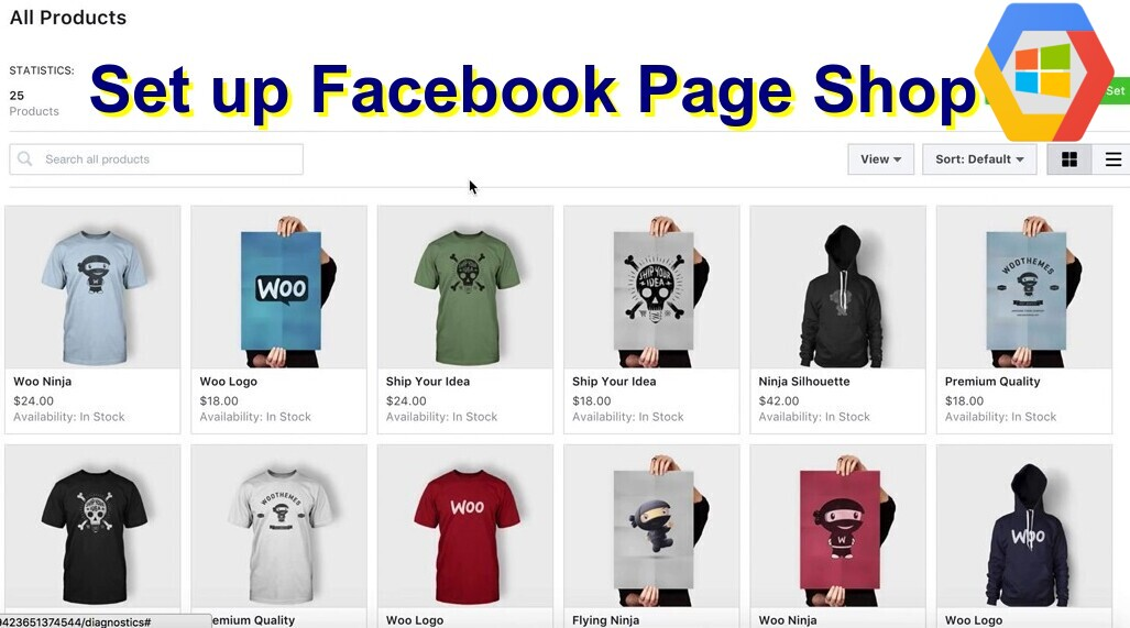 set up Facebook Page Shop